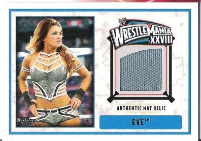 2012 Topps WWE Eve Torres WrestleMania XXVIII MAT