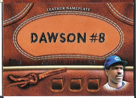 Andre Dawson Leather Nameplate ManuPatch..