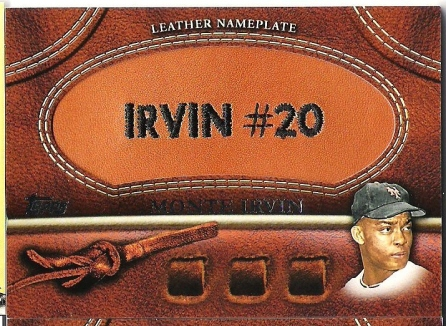 Monte Irvin Leather Nameplate ManuPatch..