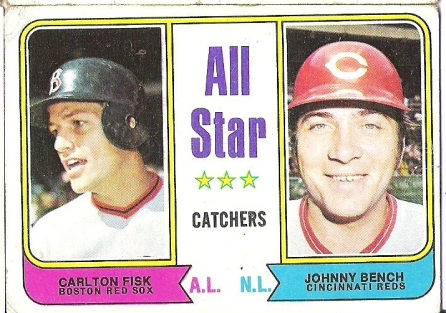 1974 Topps All-Star Catchers Fisk/Bench..
